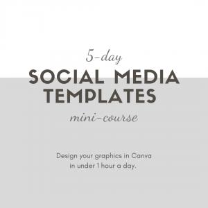 Social media templates course